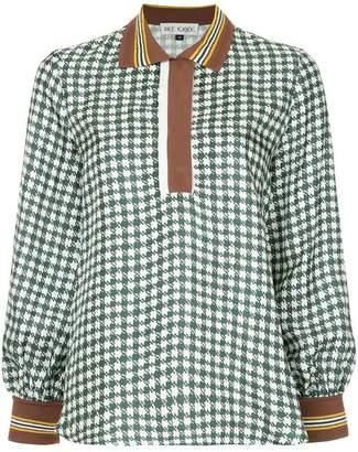 Dice Kayek check silk blouse