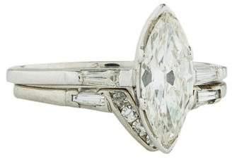 Platinum Vintage Diamond Wedding Set