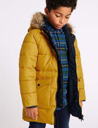 Marks and Spencer Faux Fur Reversible Parka (3-16 Years)