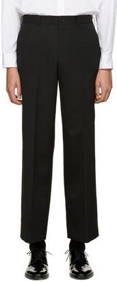 Comme des Garçons Homme Plus Black Wool Wide-Leg Trousers $460 thestylecure.com