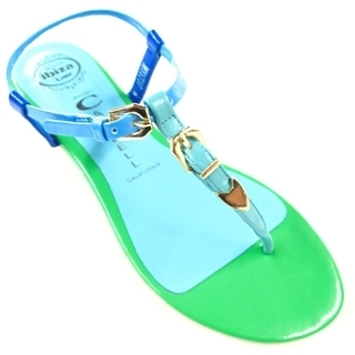 Jeffrey Campbell - Green Mystic Thong Ankle Strap Sandal