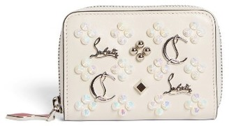 Women's Christian Louboutin Panettone Calfskin Leather Coin Purse - None $340 thestylecure.com