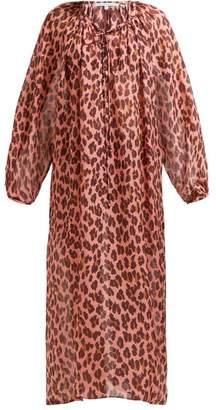 Stella McCartney Ballet Leopard Printed Silk Kaftan - Womens - Pink Multi