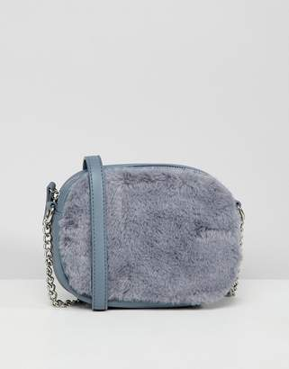New Look Faux Fur Front Cross Body Bag