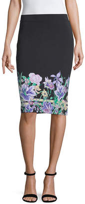 Liz Claiborne Spring Bouquet Womens Pencil Skirt