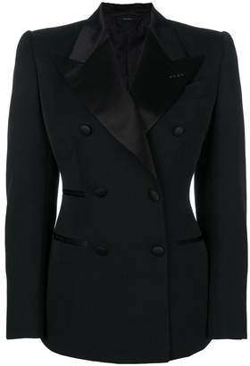 Tom Ford contrast lapel fitted blazer