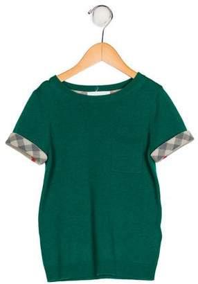 Burberry Boys' Cashmere-Blend Short Sleeve Sweater