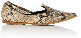 Dries Van Noten Women's Snakeskin-Stamped Leather Loafers