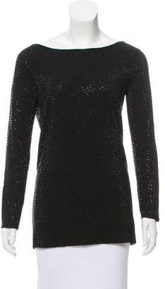 Alice + Olivia Embellished Bateau Neck Sweater