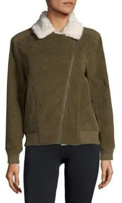 MinkPink Faux Fur-Trimmed Bomber Jacket