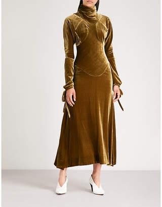 Vivienne Westwood High-neck velvet dress