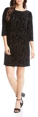 Karen Kane Burnout Velvet Shift Dress
