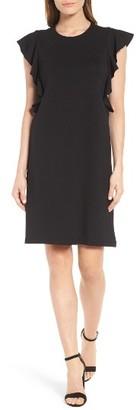 Petite Women's Halogen Ruffle Shoulder A-Line Dress $89 thestylecure.com