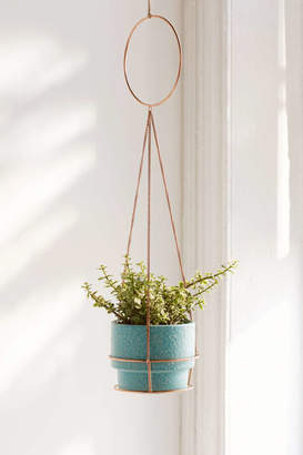 Metal Circle Hanging Planter