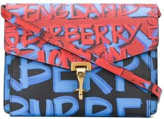 Burberry graffiti print crossbody bag
