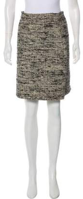 Proenza Schouler Silk Tweed Skirt Grey Silk Tweed Skirt