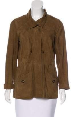 Gerard Darel Suede Button-Up Jacket