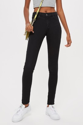 Topshop Womens Black Leigh Jeans - Black