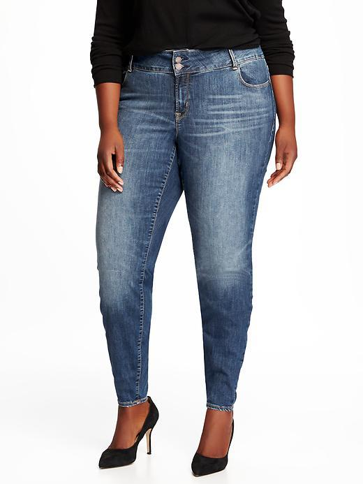 Old NavyMid-Rise Plus-Size Built-In Sculpt Skinny Rockstar Jeans