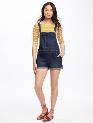 Cuffed Denim Shortalls for Women $44.94 thestylecure.com