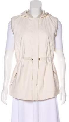 Arabella Rani Hooded Zip-Up Vest w/ Tags