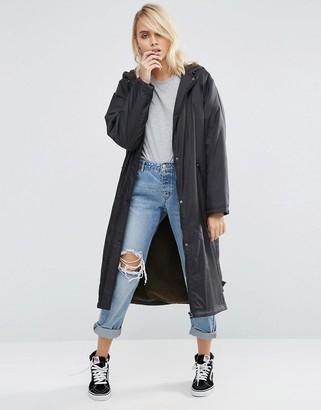 ASOS Rain Trench with Fleece Lining $87 thestylecure.com