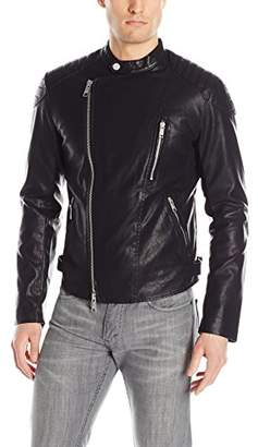 Armani Exchange A|X Men's Eco Leather Moto Jacket