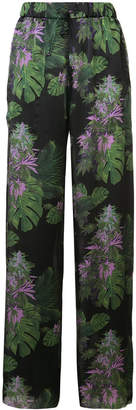 Baja East floral print trousers