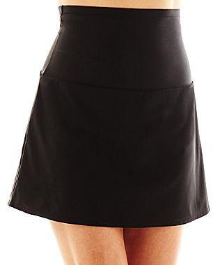 JCPenney St. John's Bay® High-Waist Control Swim Skirt