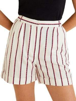MANGO Braid Stripe Shorts