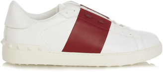VALENTINO Open bi-colour low-top leather trainers $442 thestylecure.com