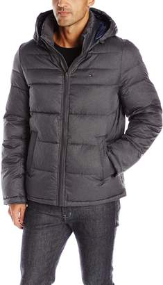 Tommy Hilfiger Men's Midlength Puffer Jacket with Fixed Hood