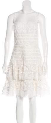 Oscar de la Renta Lace Tiered Dress