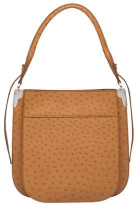 Prada Margit Ostrich Leather Shoulder Bag