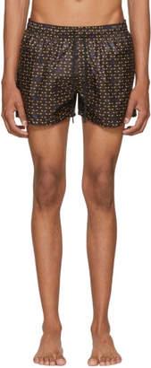 Fendi Black Bag Bugs Swim Shorts