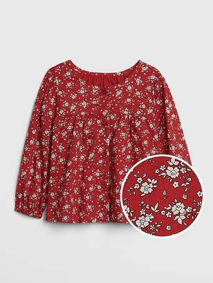 Gap Floral Shirred Top