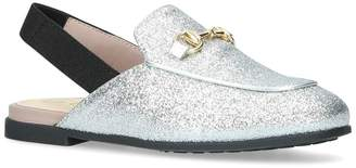 Gucci Glitter Princetown Slingback Loafers