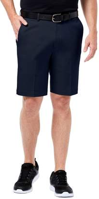 Haggar Men's Premium Straight-Fit No-Iron Khaki Flat-Front Shorts