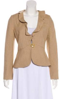 Magaschoni Structured Long Sleeve Blazer