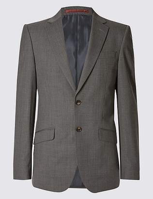 Marks and Spencer Big & Tall Grey Textured Tailored Fit Jacket