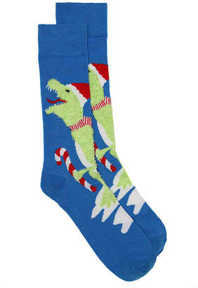 High Point Design Dinosaur Ugly Holiday Sweater Crew Socks - Men's
