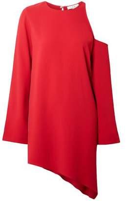 IRO Asymmetric Cutout Crepe Mini Dress