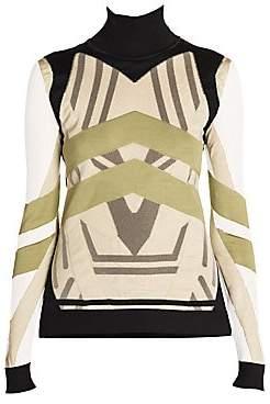 Fendi Women's Stripe Turtleneck Sweater