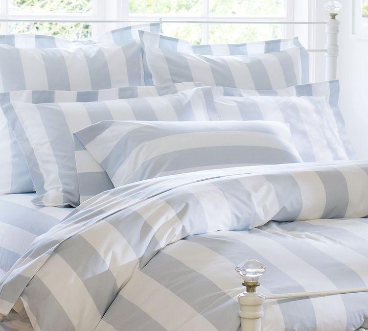 Pottery Barn PB Classic Stripe 400-Thread-Count Duvet Cover & Sham - Porcelain Blue