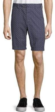 French Connection Tile-Print Cotton Shorts