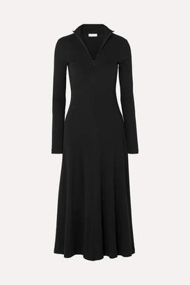Rosetta Getty Turtleneck Stretch-cotton Jersey Midi Dress - Black
