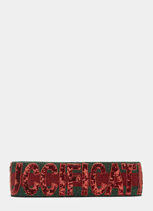 6881750bb0a Gucci Guccification Sequinned Headband in Red and Green