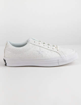 Converse One Star Ox Glitter White Womens Shoes