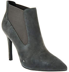 Nobrand NO BRAND H by Halston Suede Pointed-toe High Heel AnkleBoots - Regina