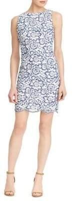 Lauren Ralph Lauren Scalloped Floral Sheath Dress